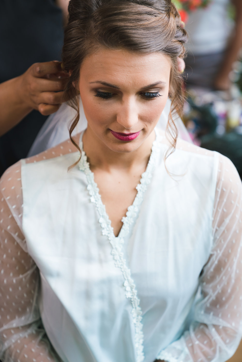 Bride getting ready - Viewpoint at Buckhorn Creek | Greenville, SC