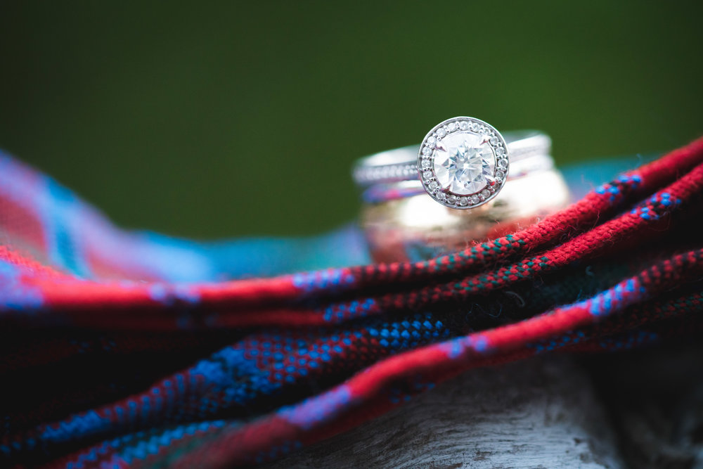 Wedding Ring with Scottish Hand Wrap