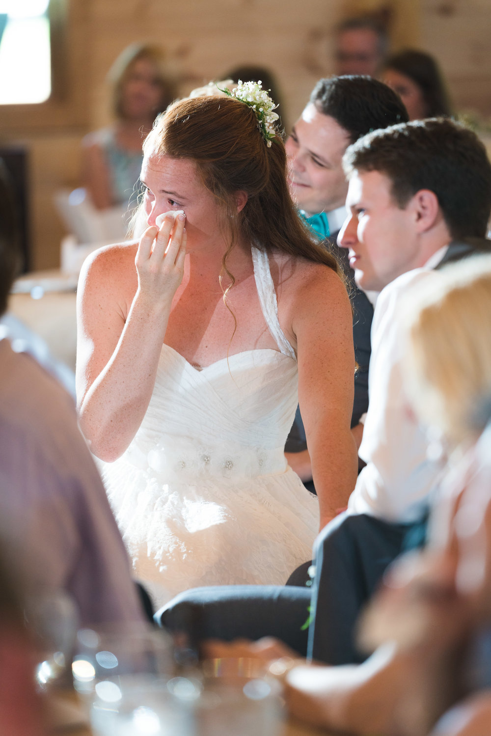 An emotional moment | Windy Hill Wedding and Event Barn in Simpsonville, SC