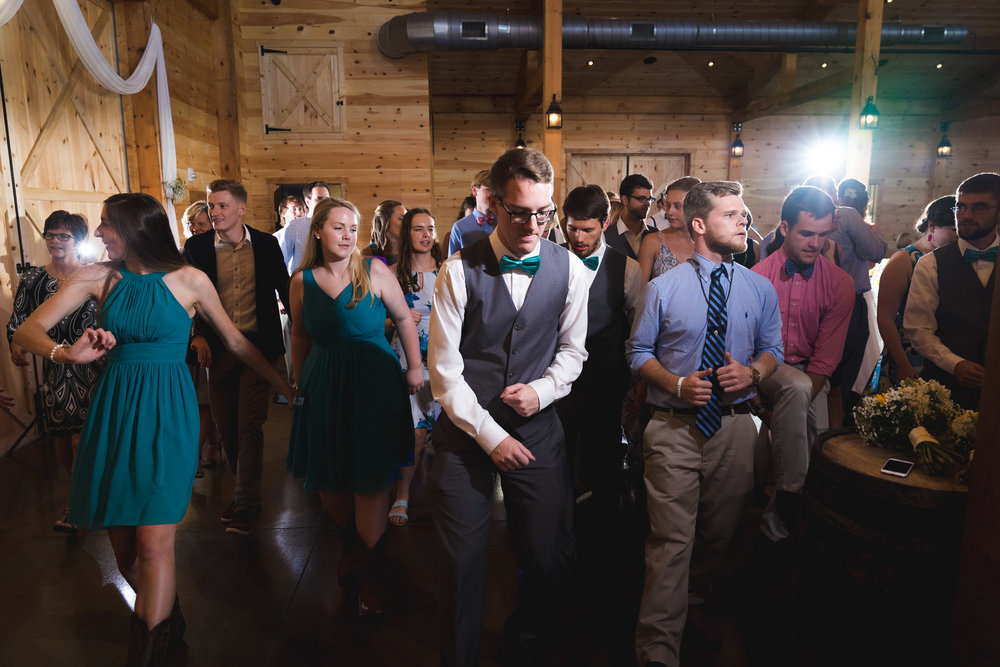 Wedding reception dancing | Windy Hill Wedding and Event Barn in Simpsonville, SC