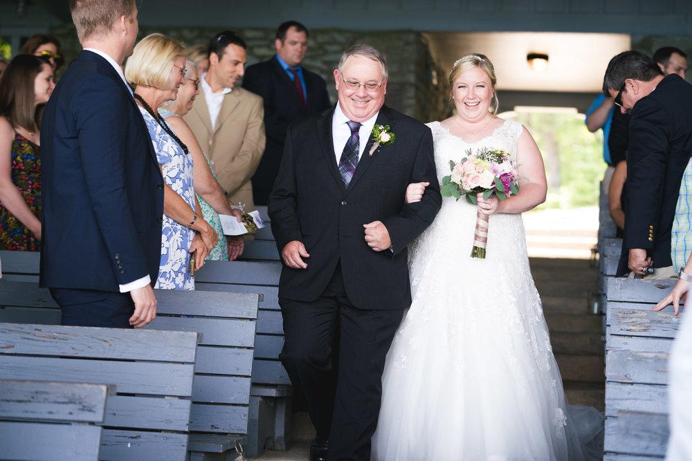 Bride walking down the aisle | Pretty Place, SC