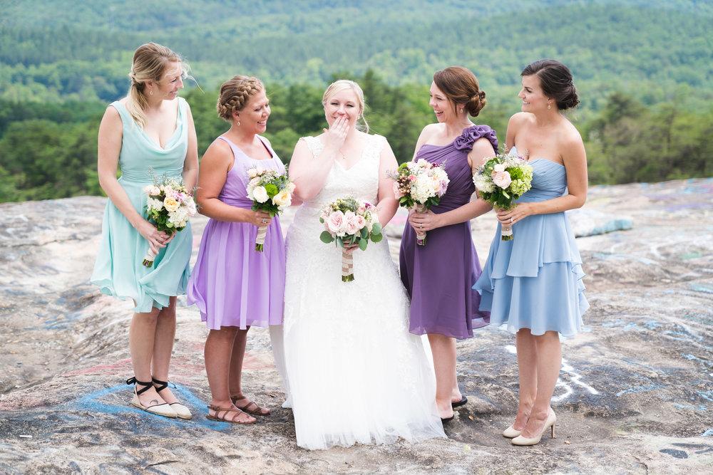 The bridal party | Bald Rock, SC