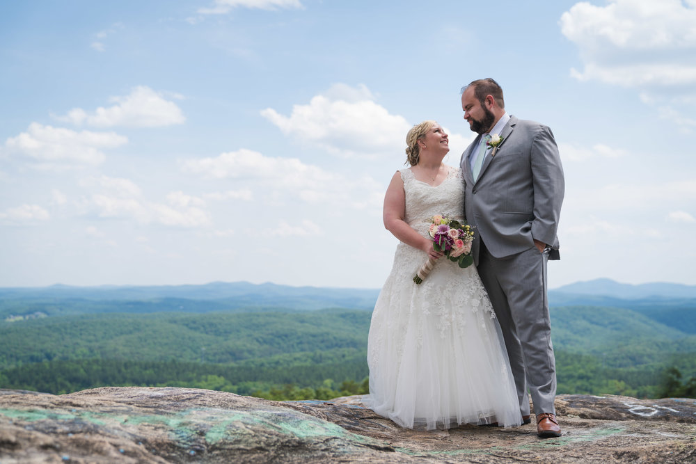 Bride and Groom | Bald Rock, SC