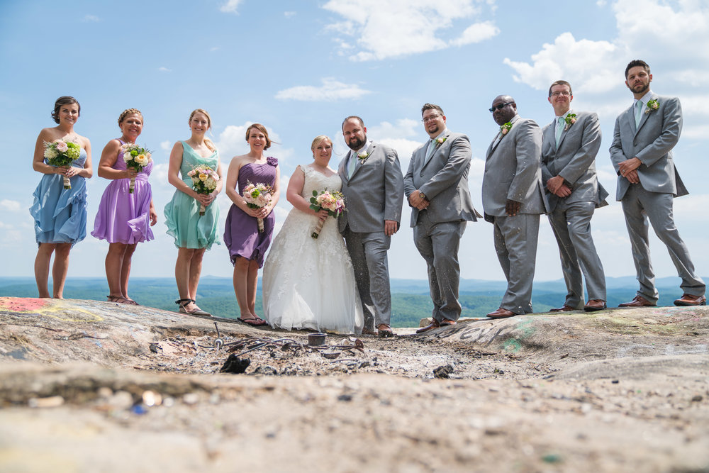Wedding party at Bald Rock, SC