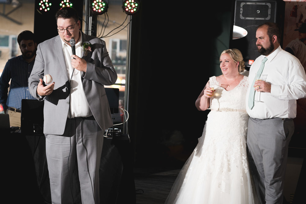 Best man speech | Flour Field Wedding in Downtown Greenville, SC