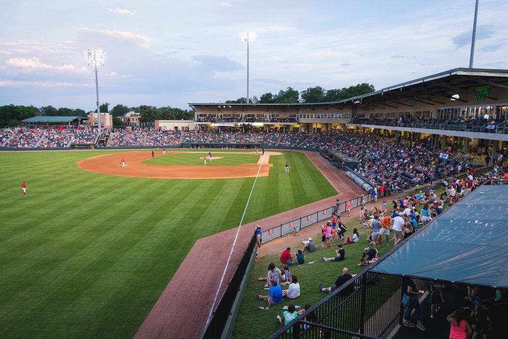 Flour field baseball stadium in Downtown Greenville, SC