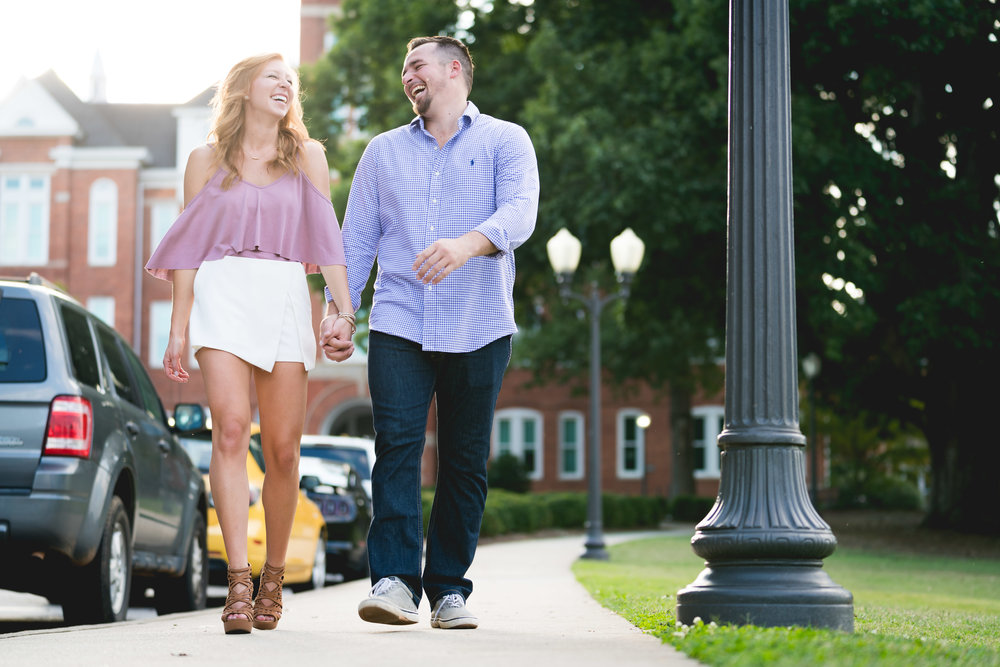 In front of Tillman Hall | Engagement Session in Clemson SC