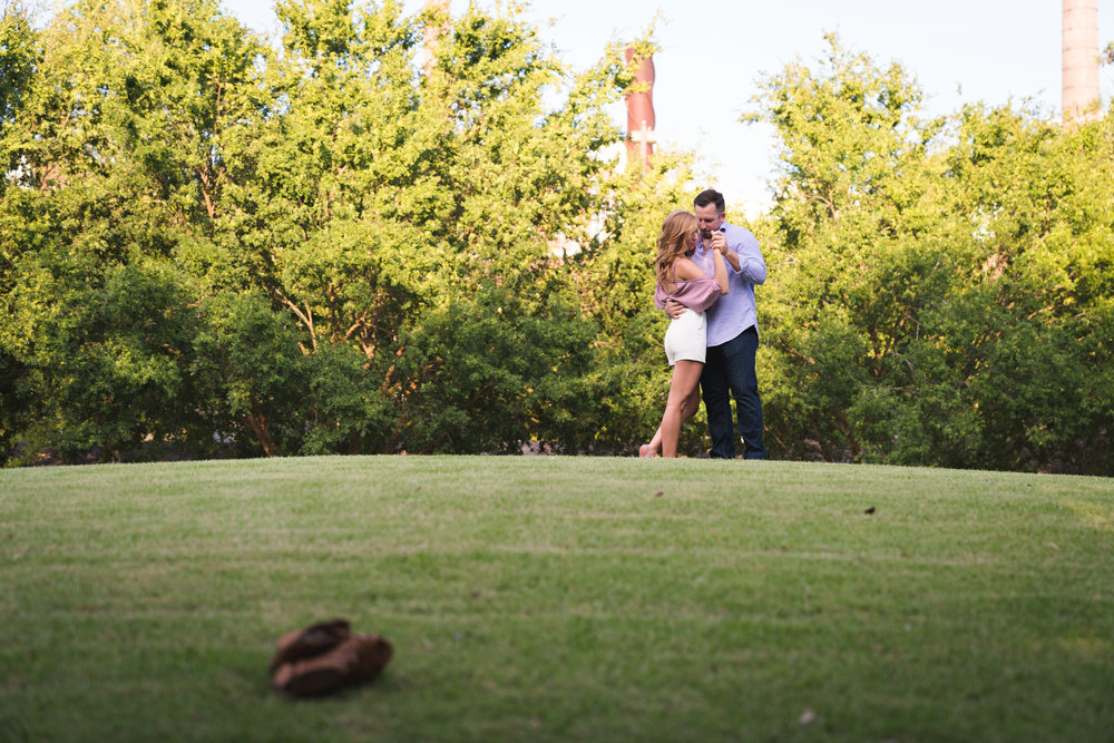 Outside death valley | Engagement Session in Clemson SC