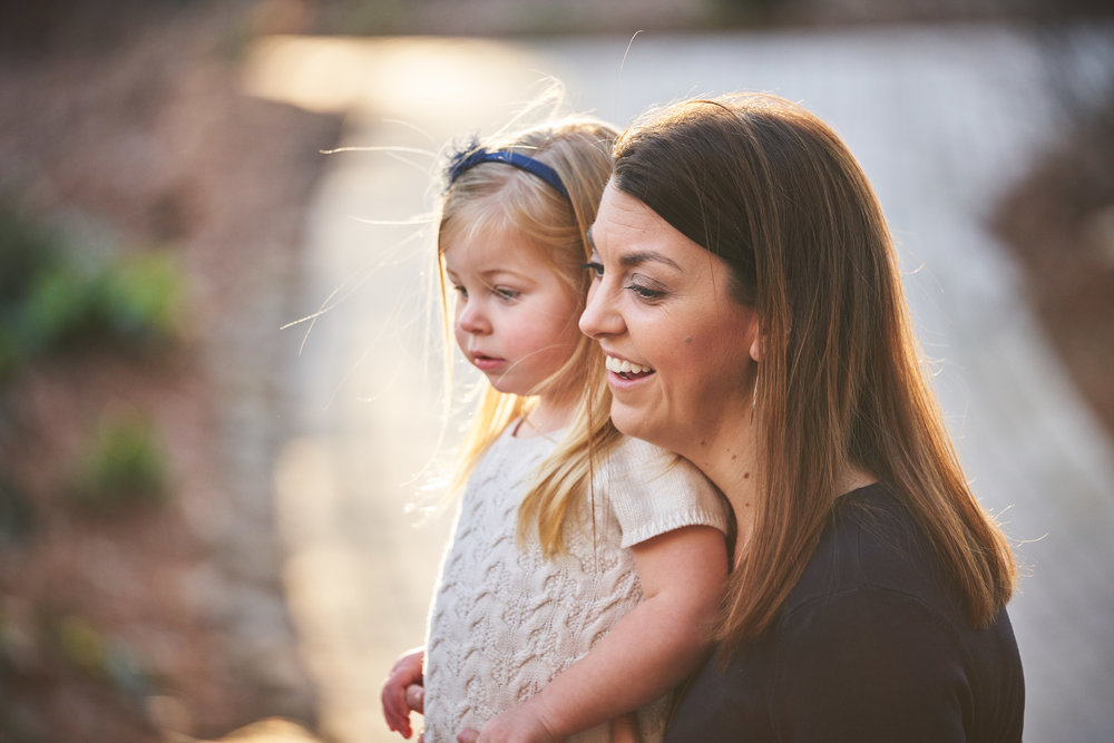 Mom and Daughter | Family Photo Session at the Clemson Botanical Gardens