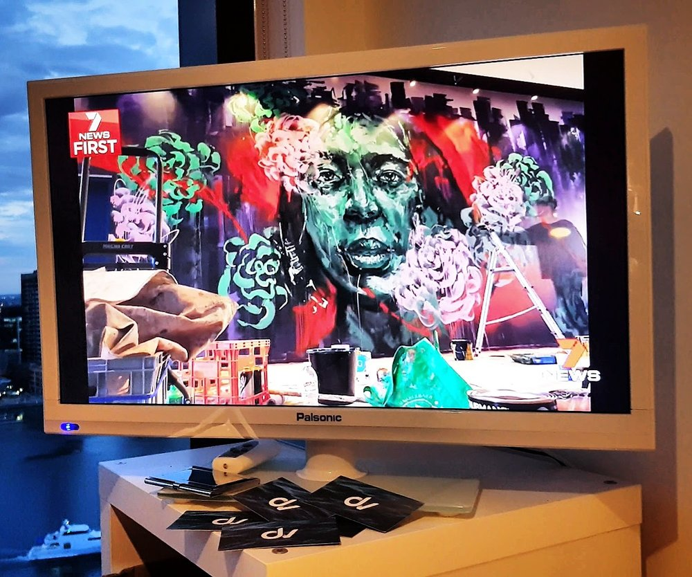 Channel 7 News - Some of our time-lapses showing Mike Eleven at work - a renowned graffiti artist in Melbourne, were featured on the 4pm and 7pm Channel 7 News. Mike was creating a variety of murals for the opening of the Sage Hotel in Ringwood, Victoria.