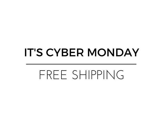 "It's Cyber Monday, so we're giving you free shipping! Use the code ""CYBERMONDAY"" at checkout"