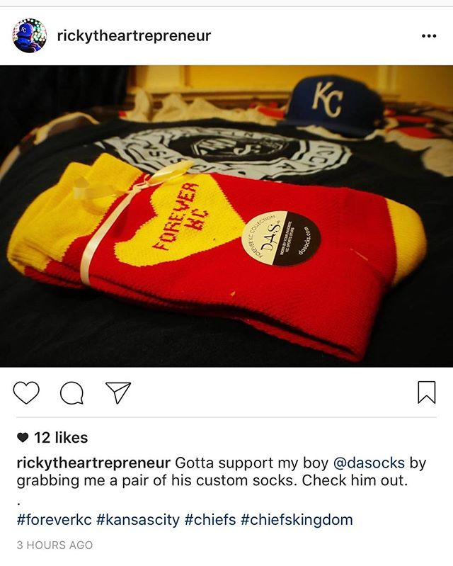 Thanks for the shoutout @rickytheartrepreneur ! #ForeverKC #SeaOfRed