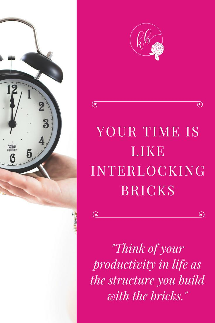 YOUR TIME IS LIKE INTERLOCKING BRICKS