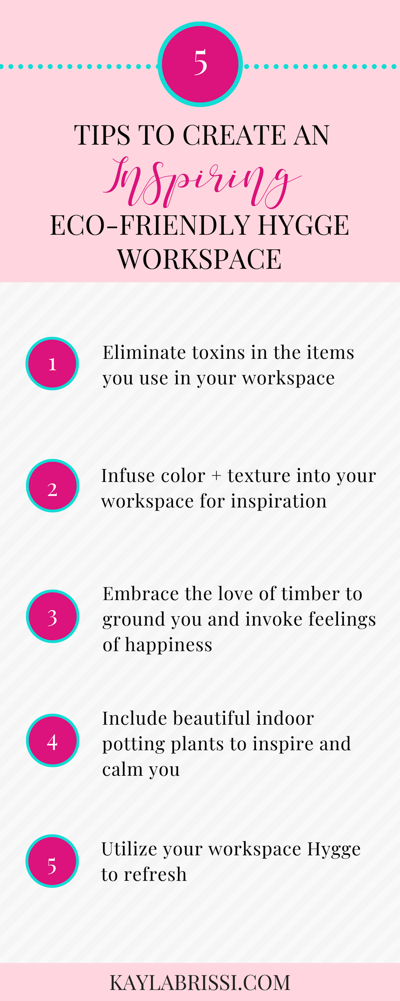 5 TIPS TO CREATE AN INSPIRING ECO-FRIENDLY HYGGE WORKSPACE INFOGRAPHIC