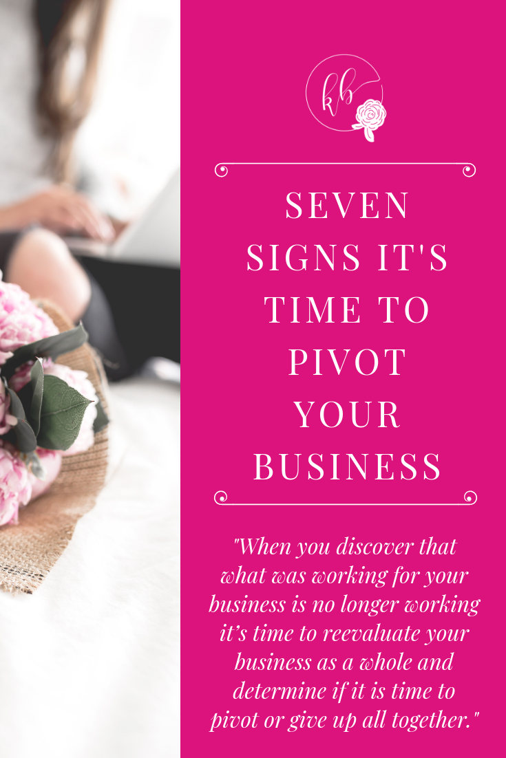 SEVEN SIGNS IT'S TIME TO PIVOT YOUR BUSINESS
