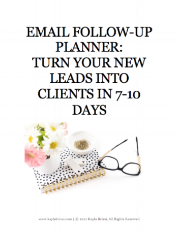 Email Follow-Up Planner for Sale