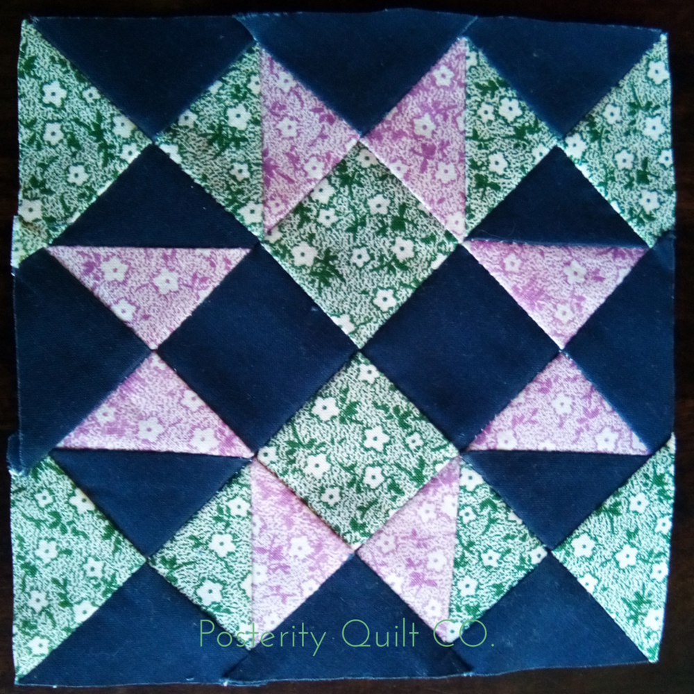 The Malvina block can be found on page 121 of the  1930's Farmer's Wife Sampler  (page 214 for template instructions.)
