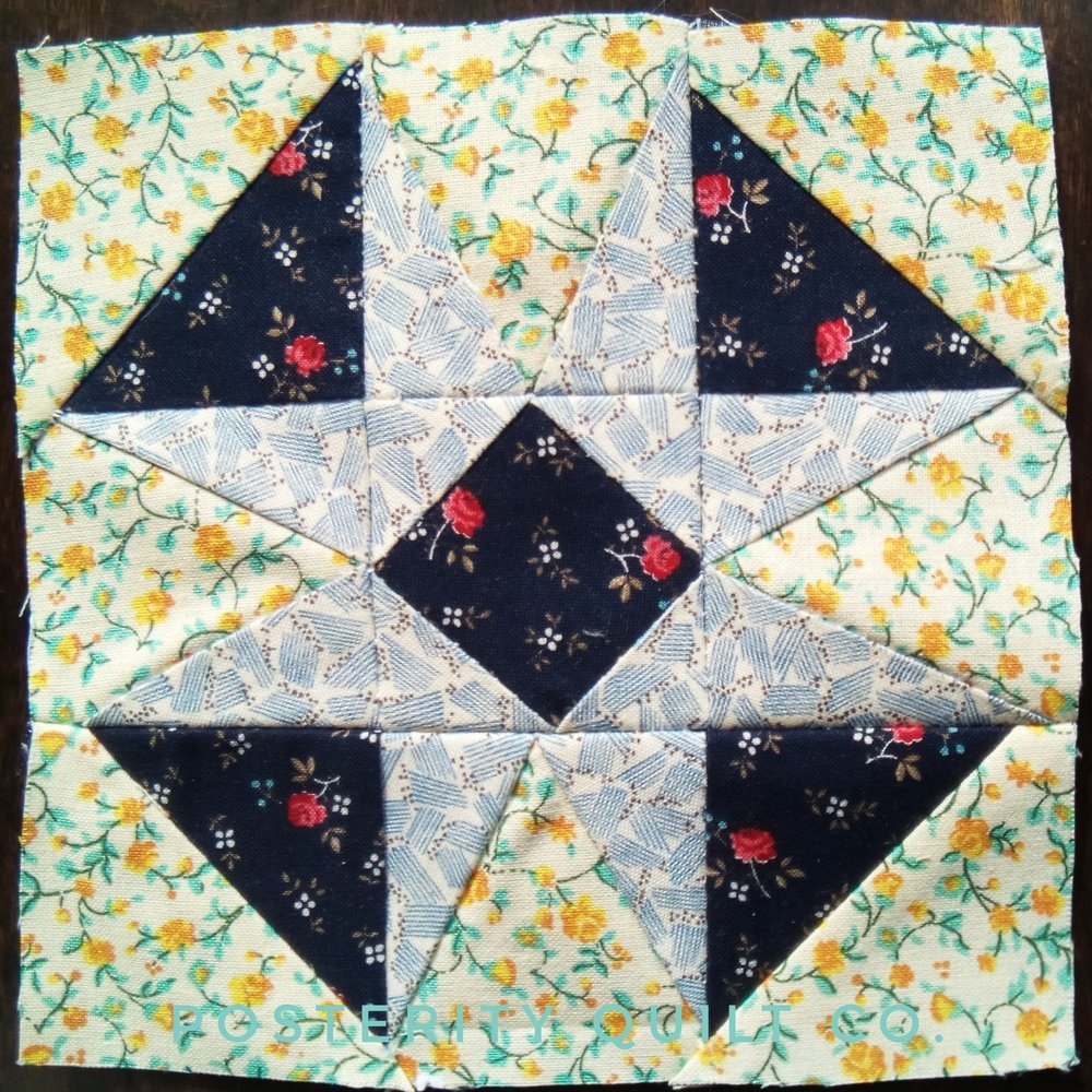 The  Doris block can be found on page 90 of the  1930's Farmer's Wife Sampler  (page 188 for template instructions.)