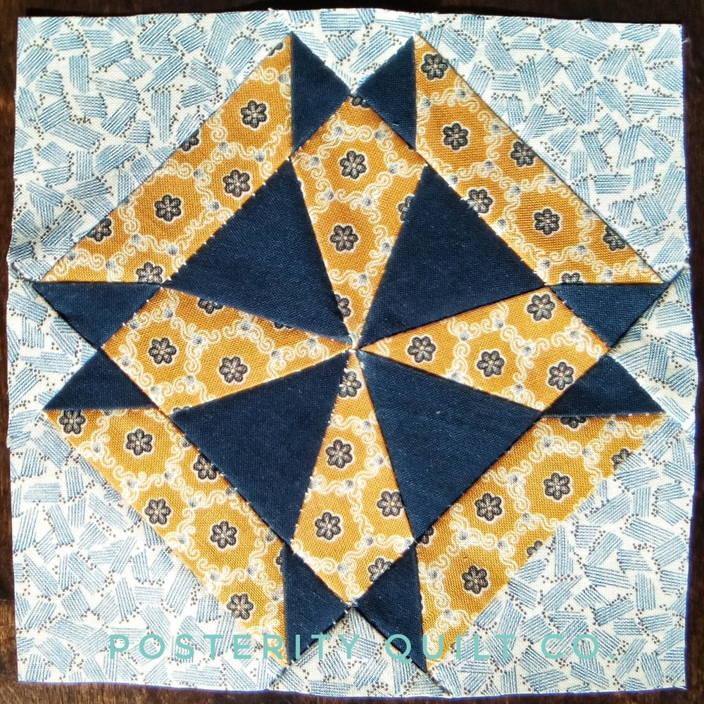 The Aimee block can be found on page 20 of the  1930's Farmer's Wife Sampler  (page 161 for template instructions.)