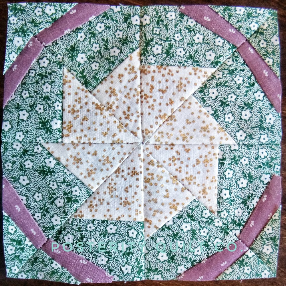 The Anne block can be found on page 46 of the  1930's Farmer's Wife Sampler  (page 164 for template instructions.)