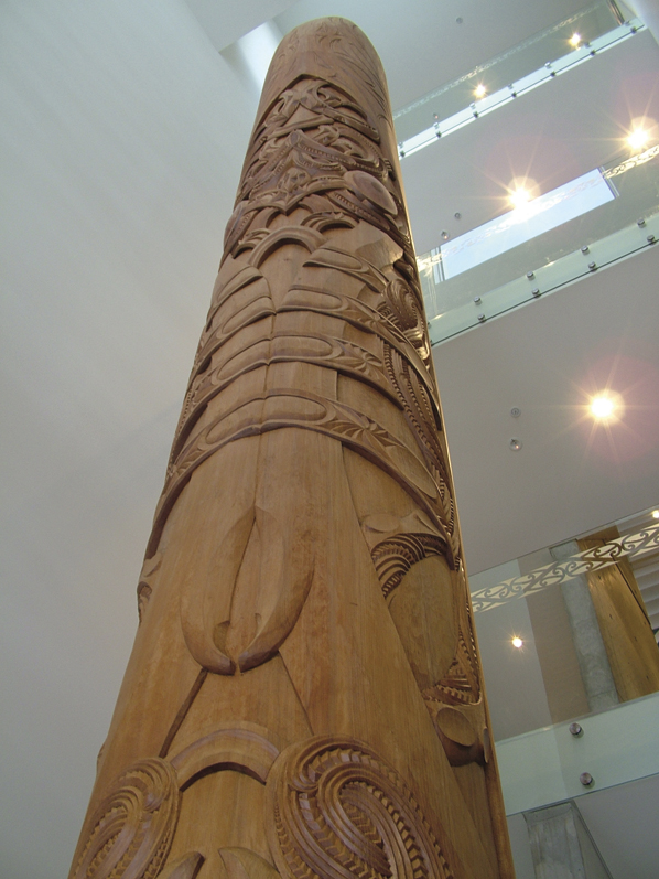 Carved by Hēmi Tahuparae and Jason Hina.