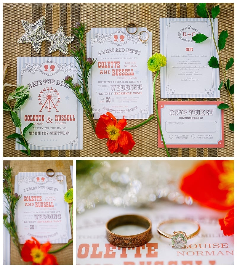 Wedding Stationary | Circus themed wedding invites | Jessicawonders.com