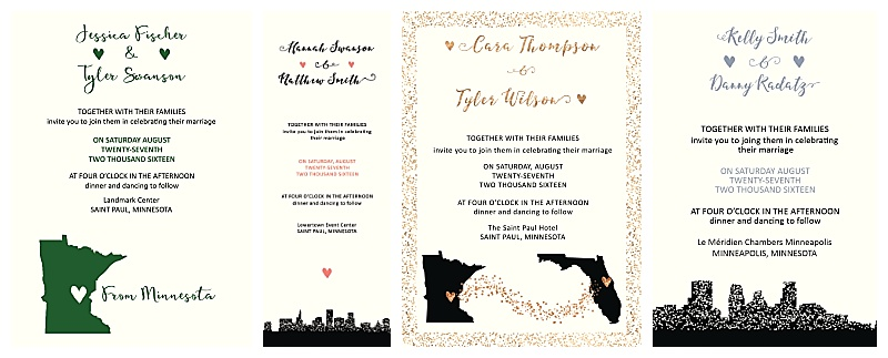 Jessica Wonders Events Stationery Design Minneapolis MN