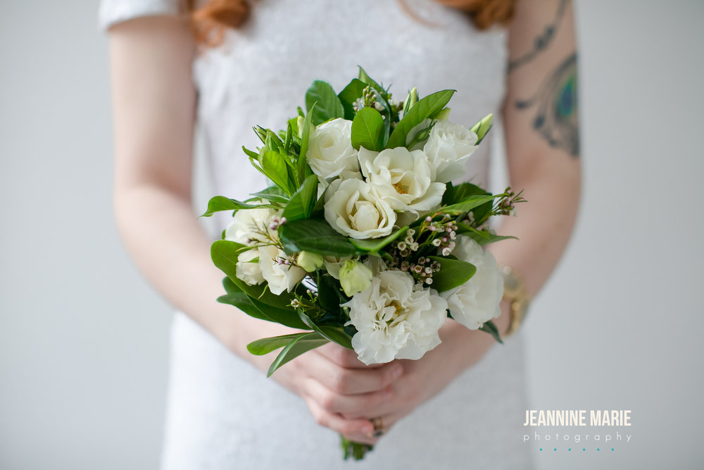 Posy white and greenery bouquet  Jessica Wonders Events, Minneapolis, MN