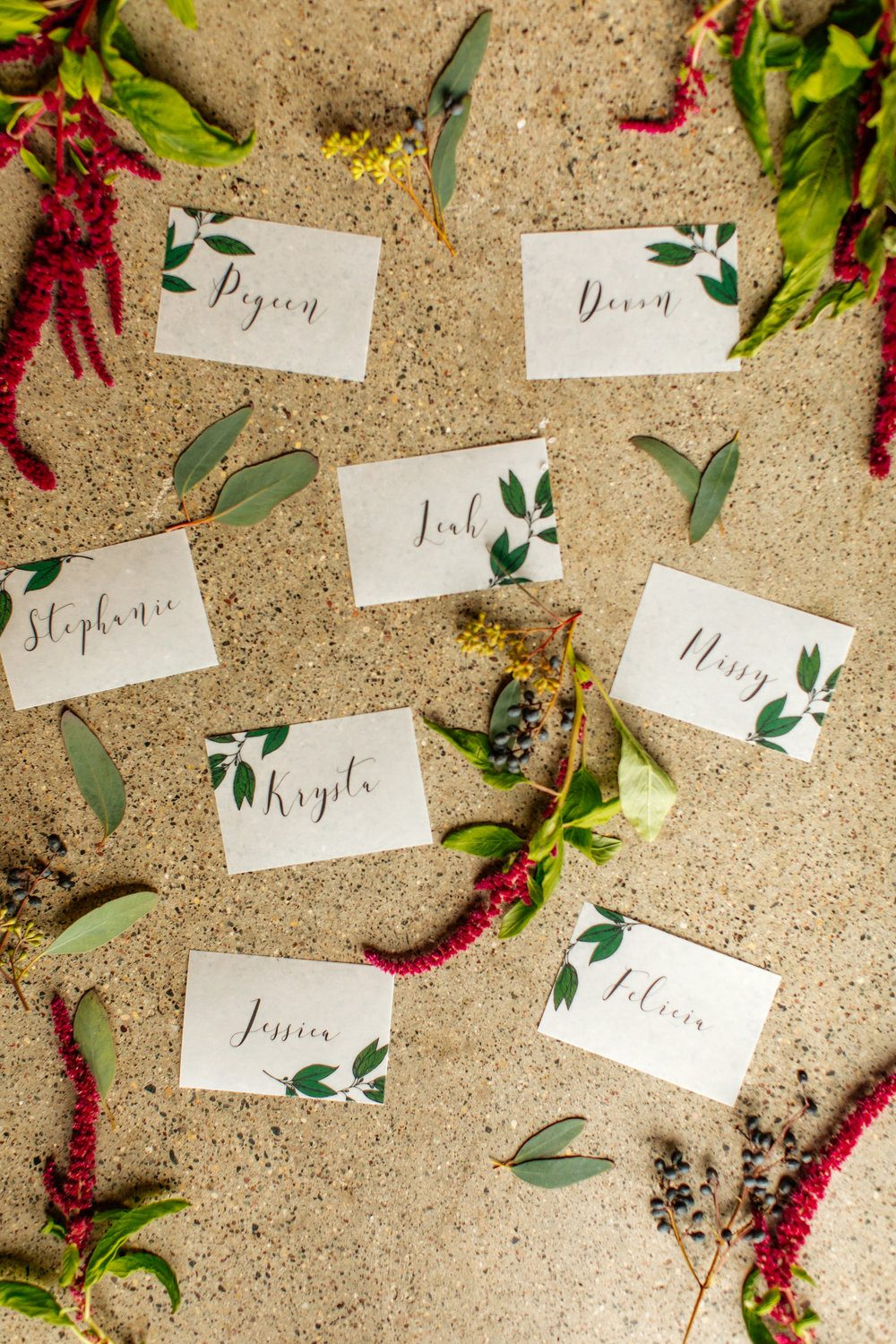 Wedding place cards, calligraphy  Jessica Wonders Events, Minneapolis, MN