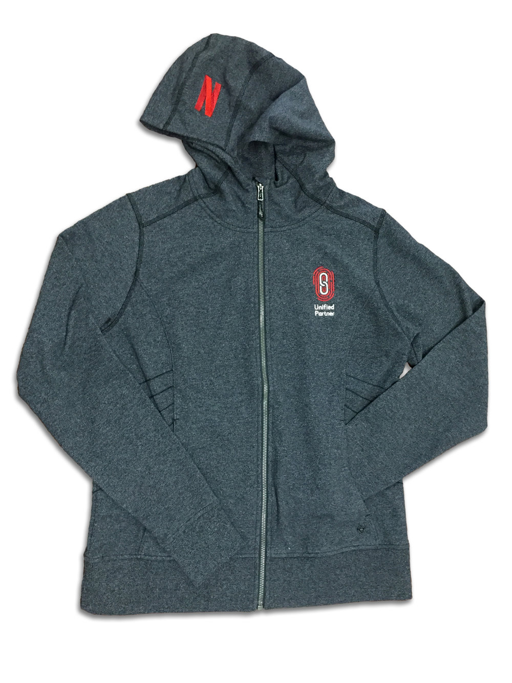 EMBROIDERED PERFORMANCE FLEECE HOODED JACKET