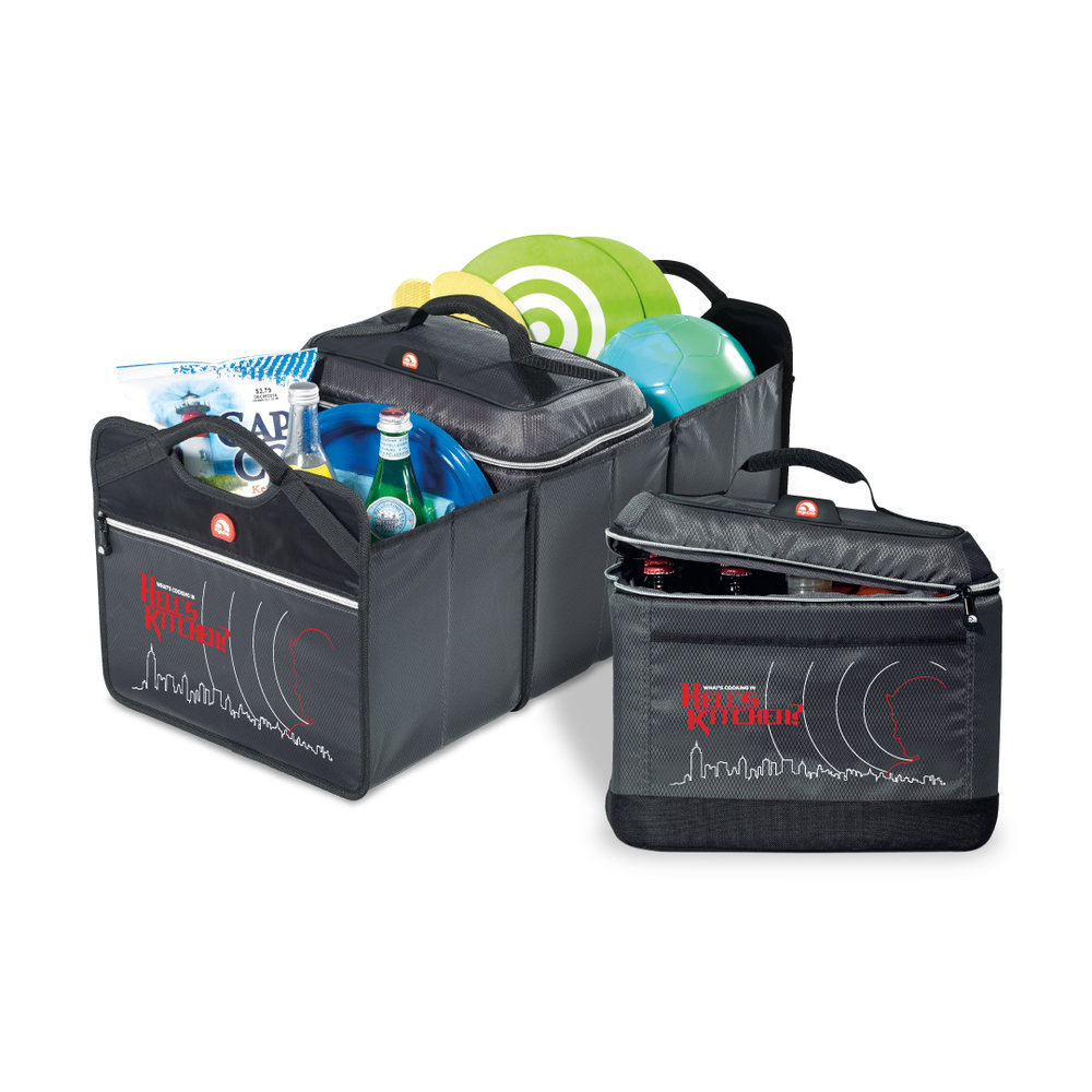 COLLAPSIBLE TRUNK ORGANIZER AND TRAVEL COOLER
