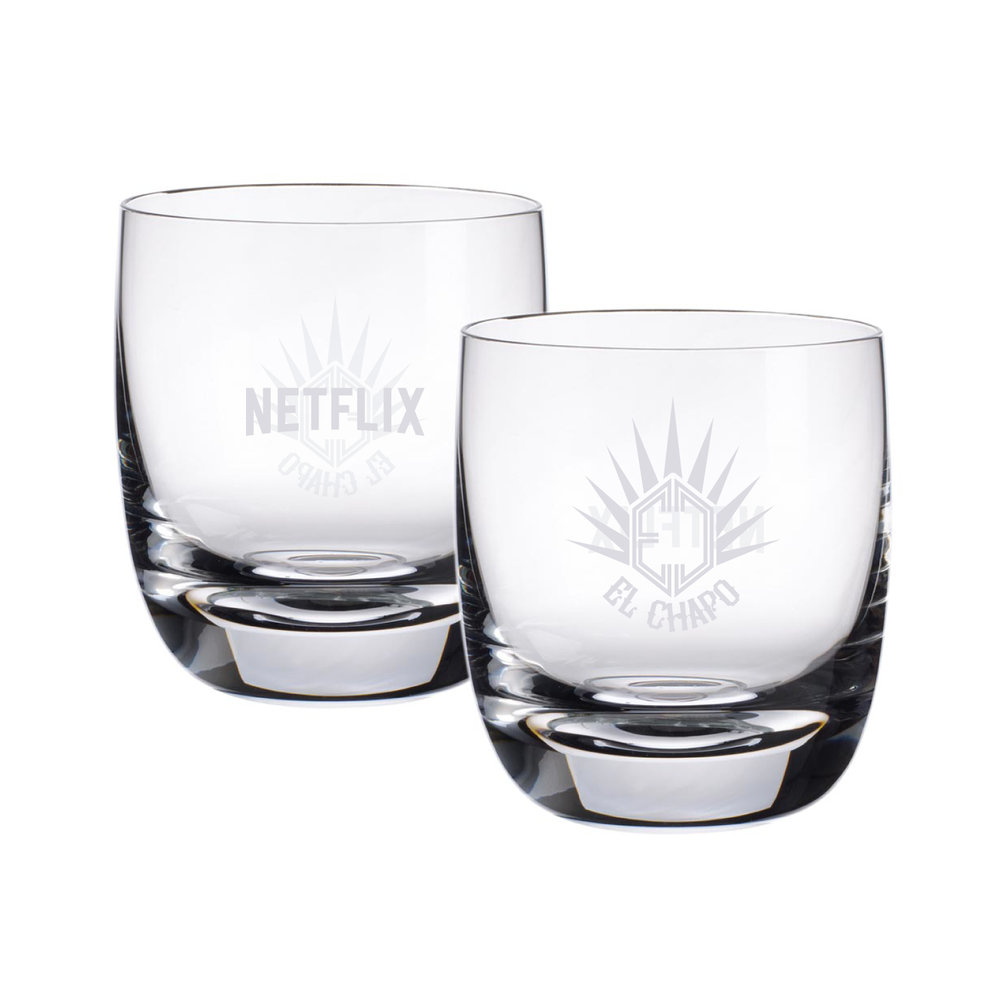 CUSTOM DESIGNED EL CHAPO TEQUILA GLASSES