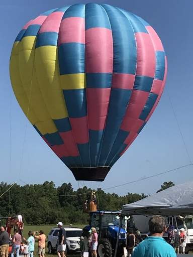 - Balloon rides were something new at Big Toy Day.