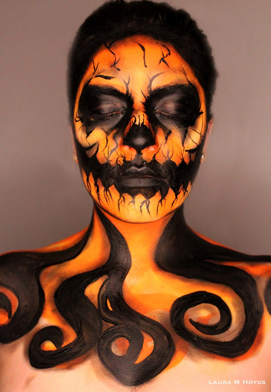 Jack O Lantern Face Paint