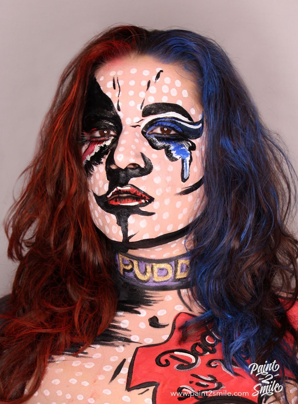 harley quinn face paint