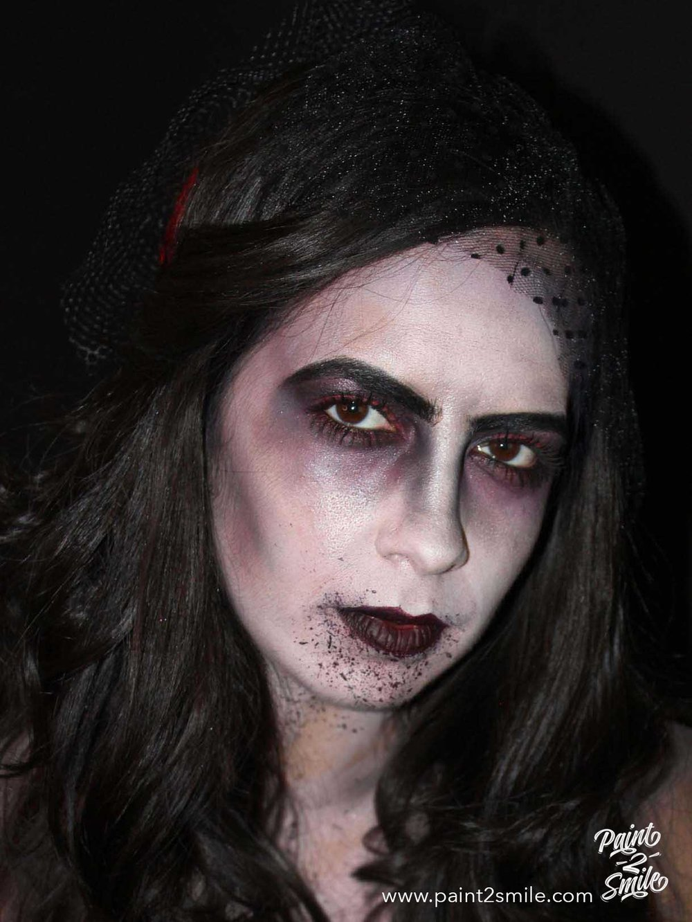 dead bride face paint