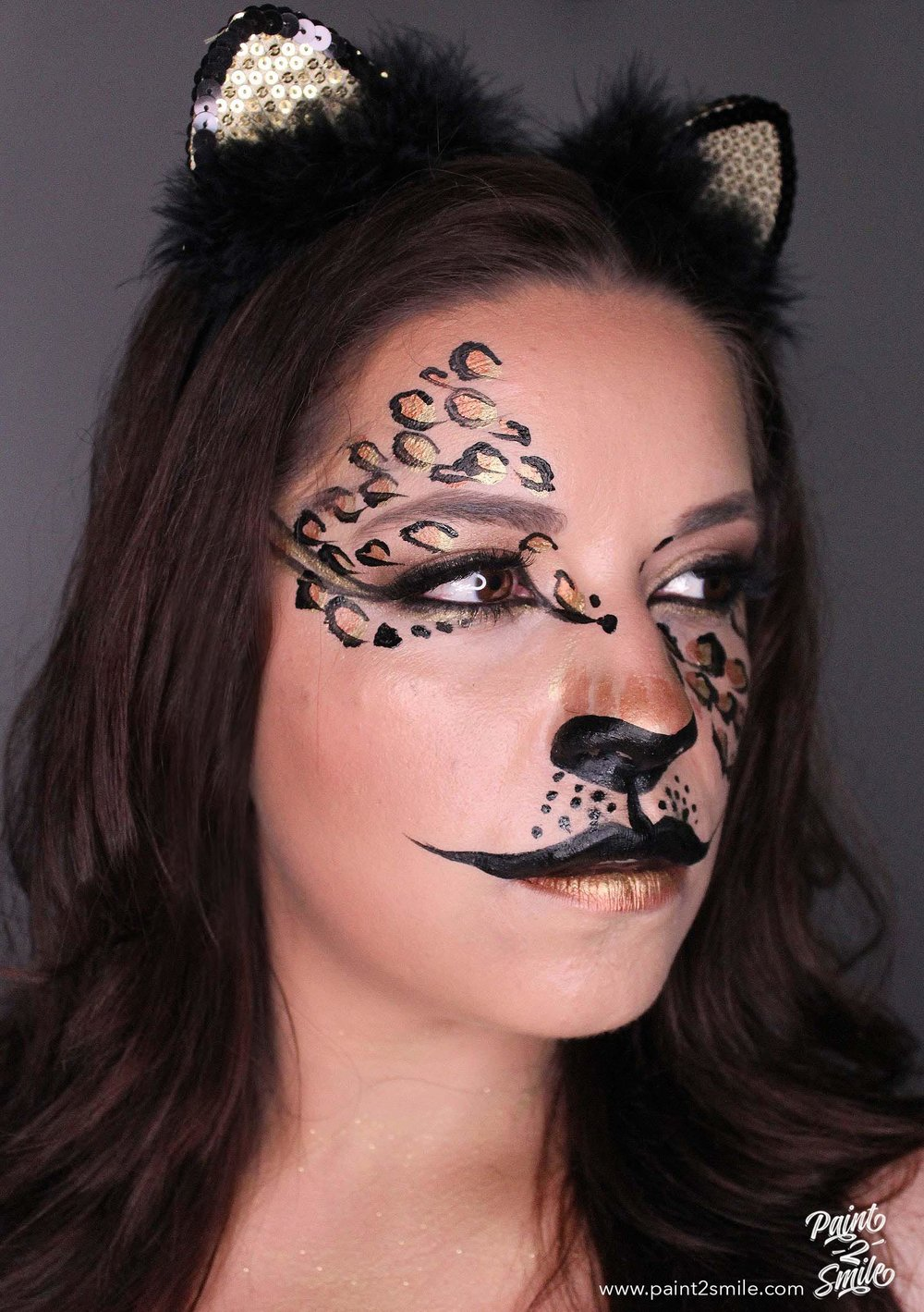 adult face paint cheetah