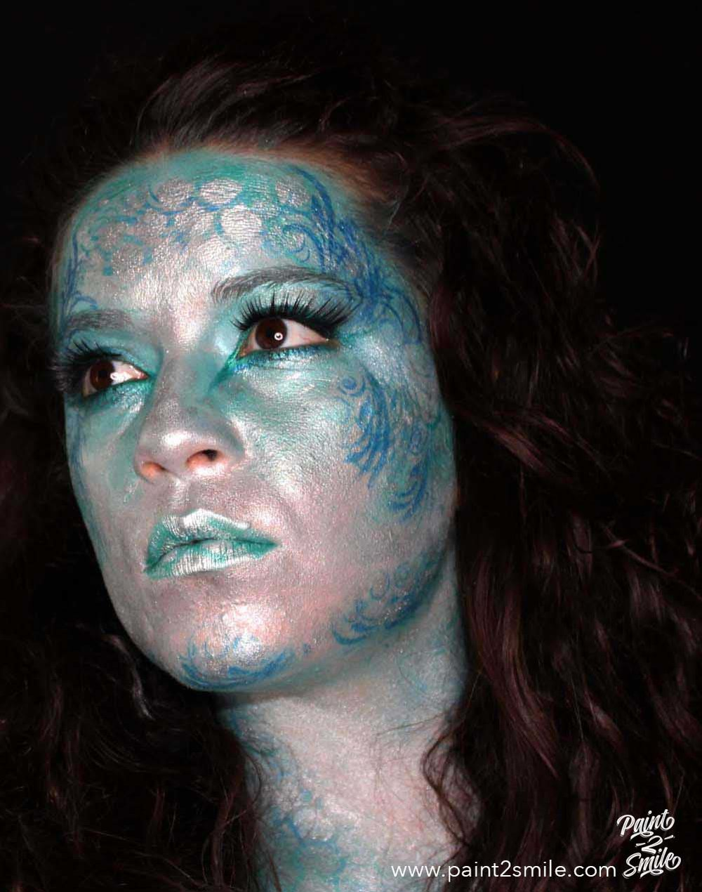 adult mermaid face paint