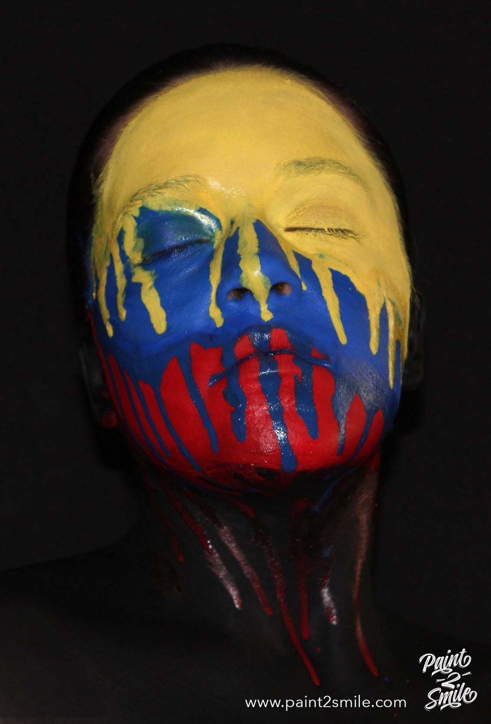 flag colombia face paint