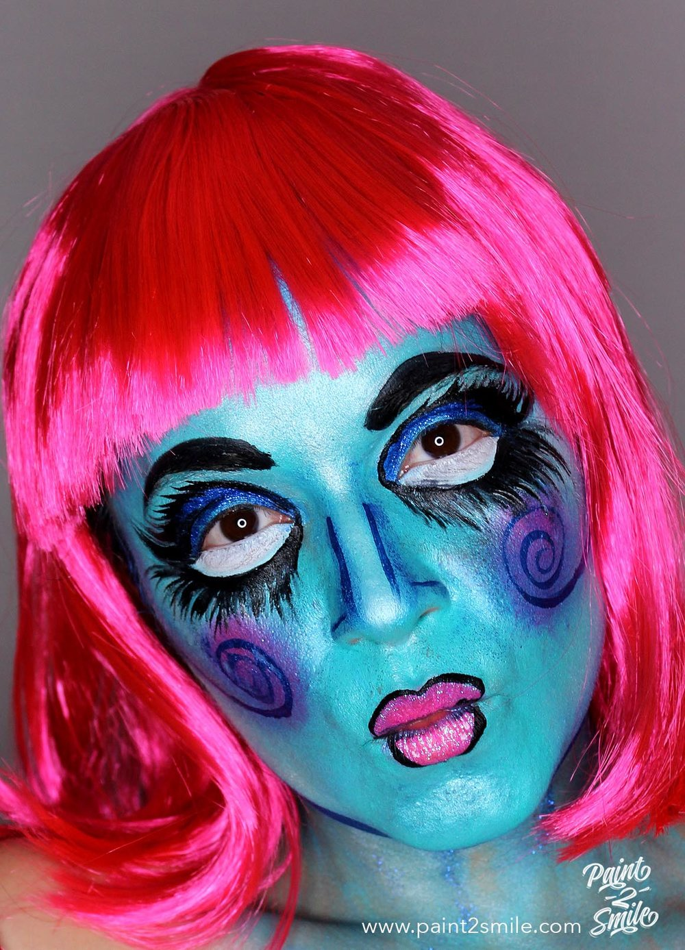 face painting rag doll