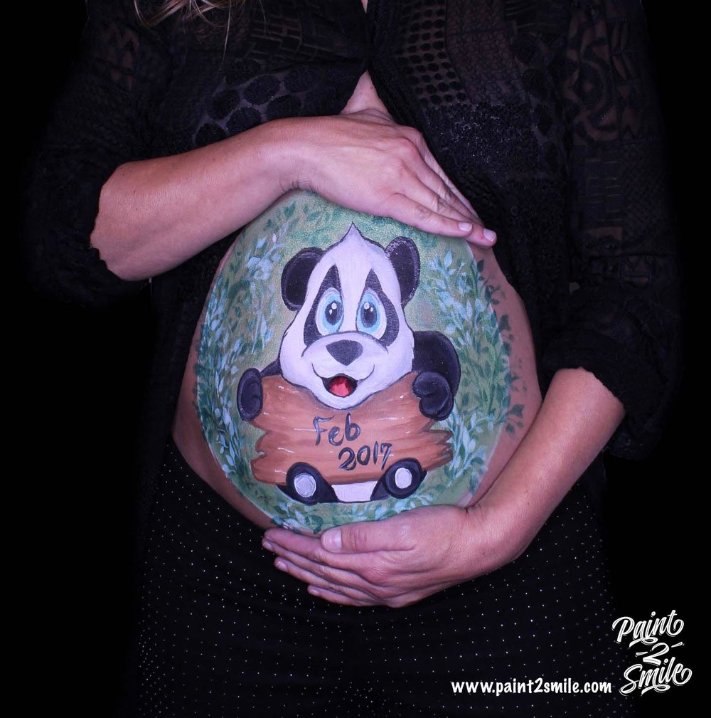 belly painting panda