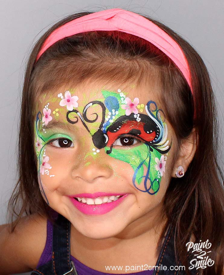 Face painting lady bug