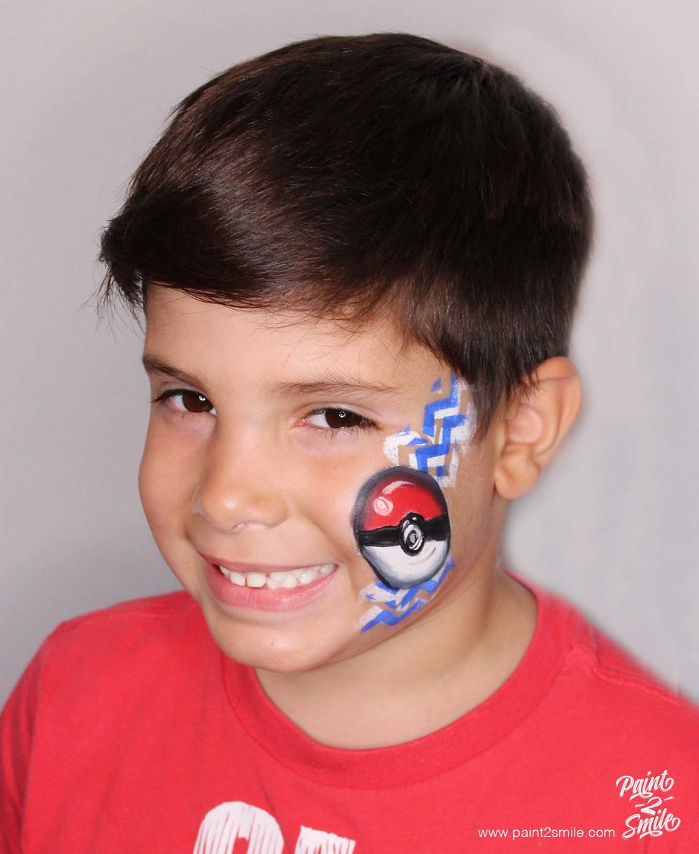 face painting poke ball