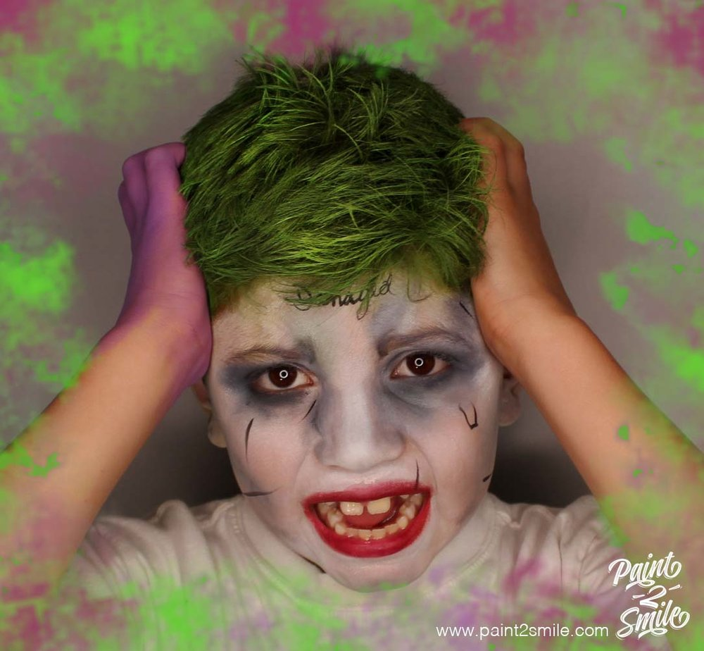 face painting joker