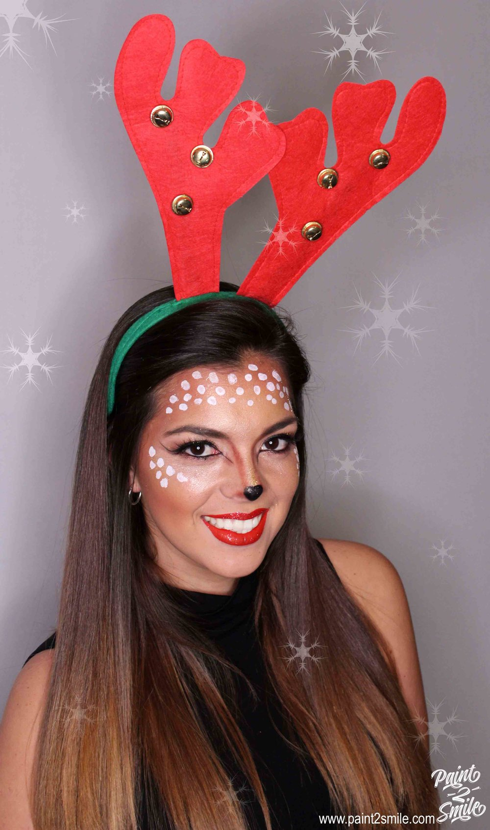 reindeer adult face painting