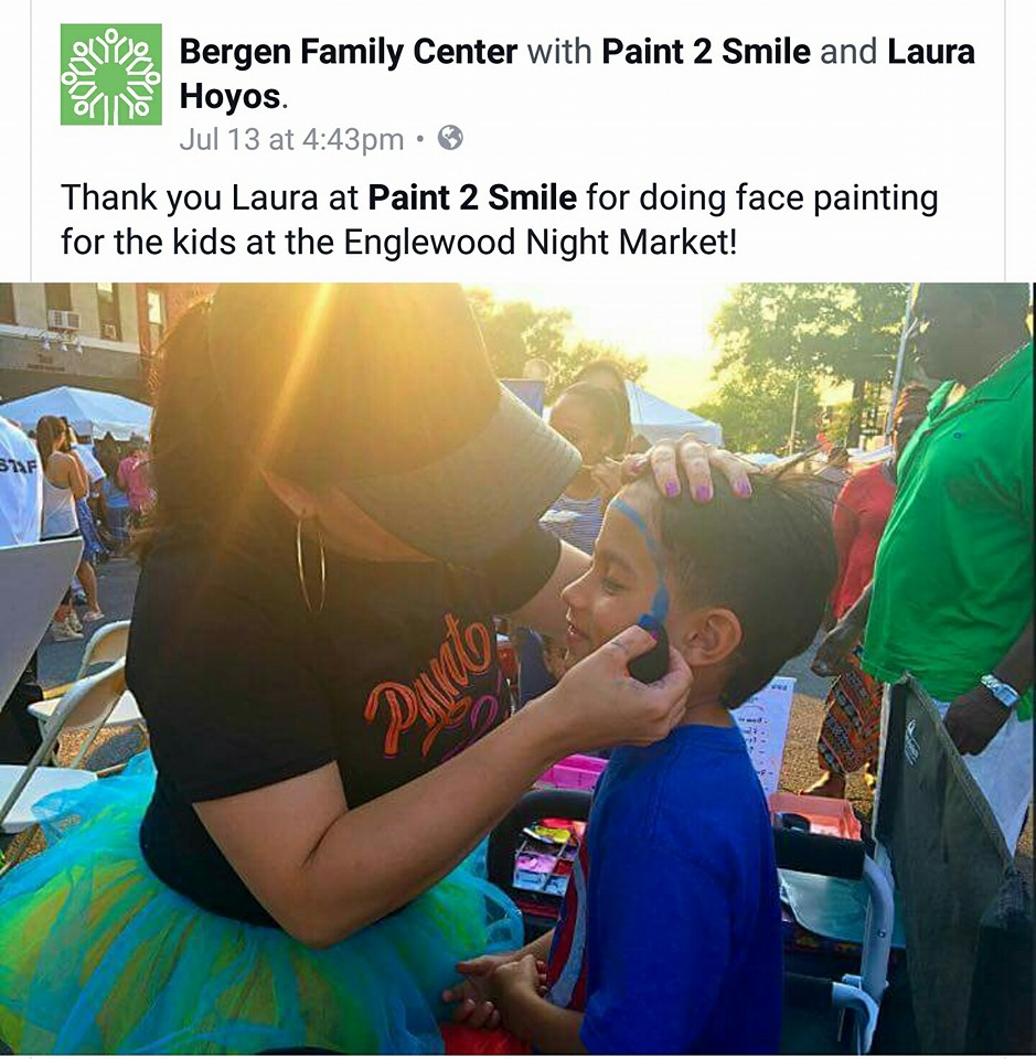 Englewood NJ Night Out Face Painting