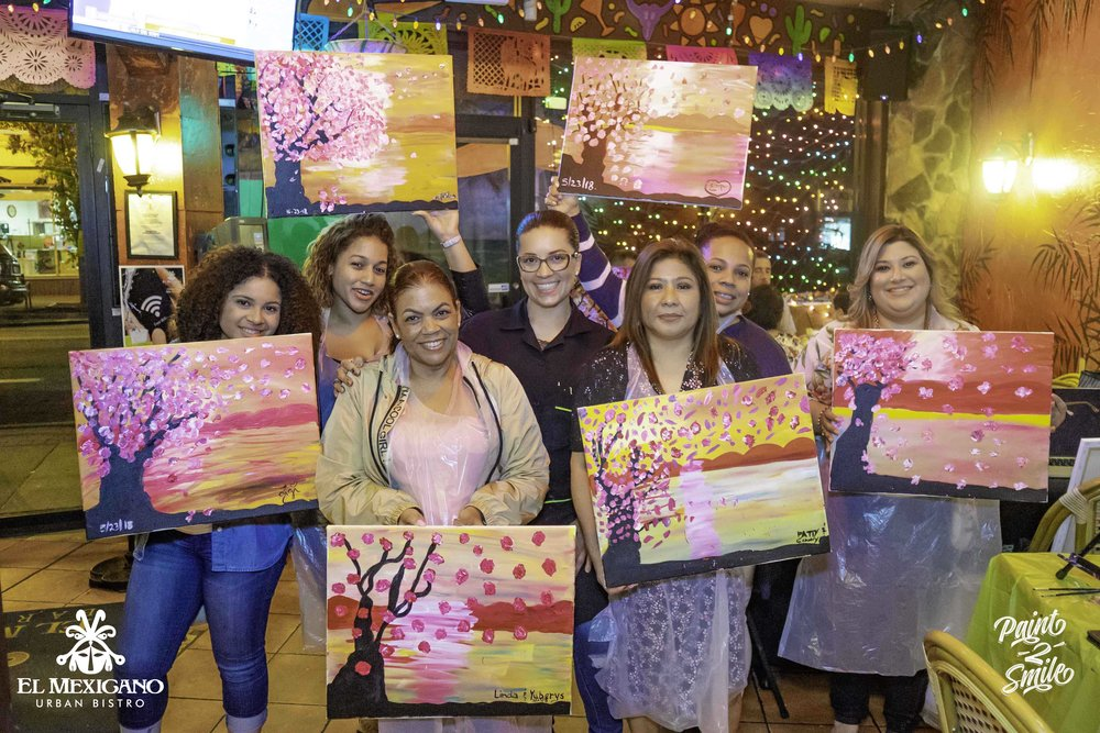 paint and sip Bergen county NJ