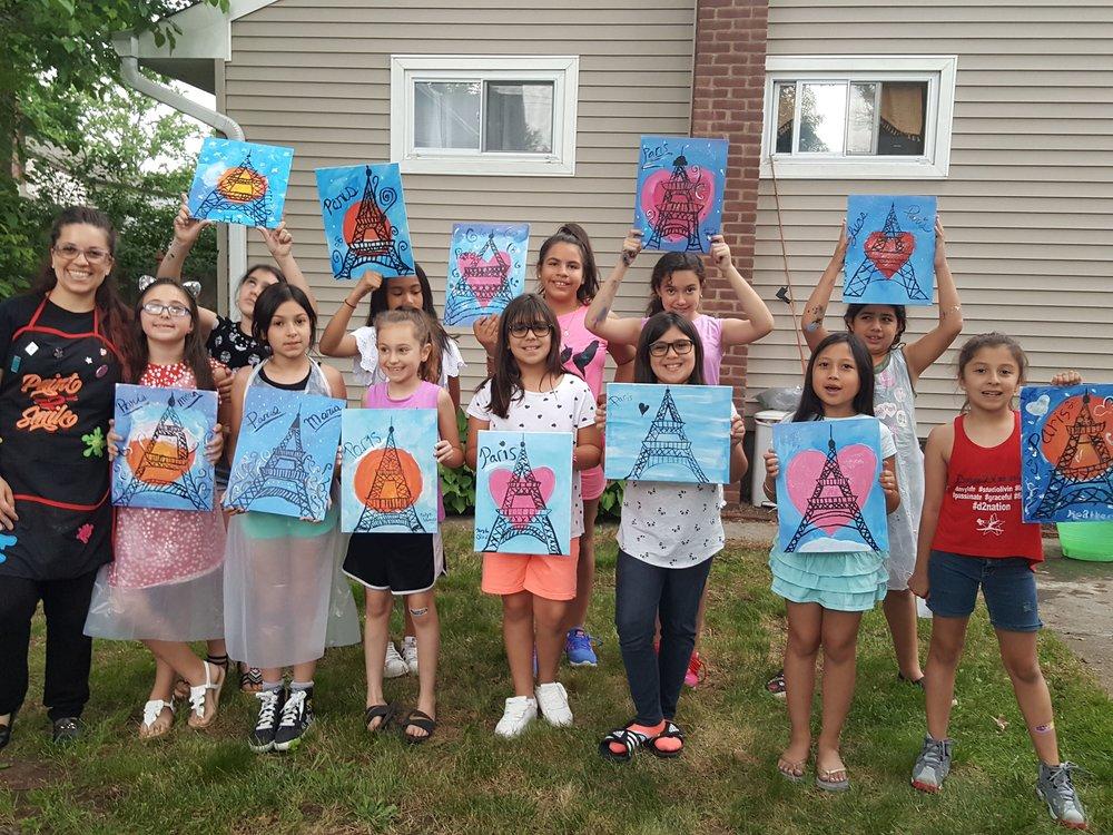 Kids paint party Bergen county