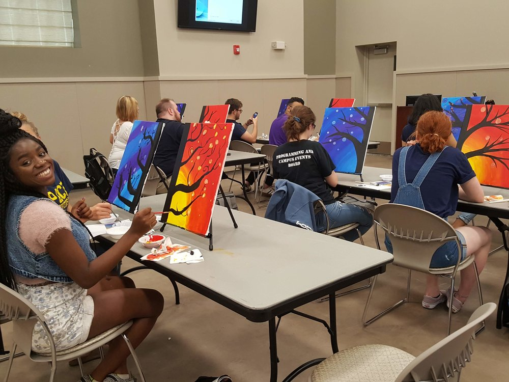 team building paint group for office
