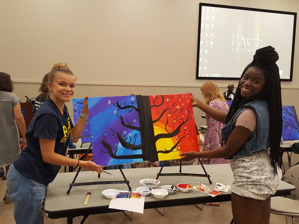 team building paint group for college students